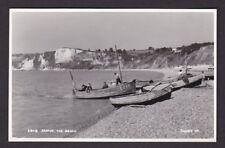 Devon SEATON The Beach fishing boats men Judges #28091 c1950/60s RP PPC