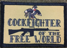 Cockfigther of the Free World FAL Morale Patch Tactical Military Army Hook Flag
