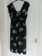 Masai designer smock dress black silk look pockets XL UK 16-18 BNWT