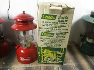 COLEMAN LANTERN 200 RED  W / ORIGINAL BOX  DATED 11 - 69    NO RESERVE