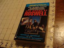 Original paperback book: UFO CRASH AT ROSWELL randle 1991 1st ed AVON