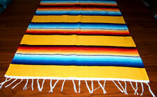 Serape Table Runner Table Topper 2x5' Southwestern Fiesta Lightweight YELLOW