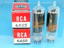 RCA 6AS5 VACUUM TUBE PERFECT PAIR 1960s ABSOLUTE NOS NIB Valvola Röhre Valve R95