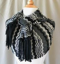 """Missoni Black & Gray Zig Zag Wool Blend Scarf 70"""" x 18"""" Excellent condition!"""