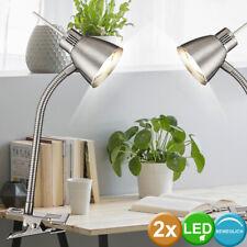 2er Set LED Esribir Mesa Pinza Foco De Dormir Invitados Habitación Lámpara Flexo