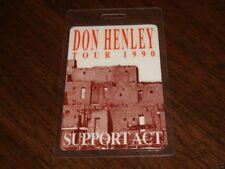 Don Henley Original Laminate Backstage Ticket Pass Eagles 1990 Summer Tour Usa