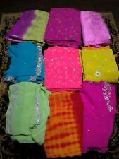 Embroidery Georgette Sarees in Excellent Condition - $20 Each