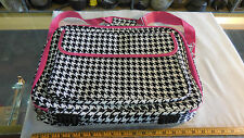 """All-Seasons 17"""" Laptop Computer Case - Pink Trim Houndstooth"""