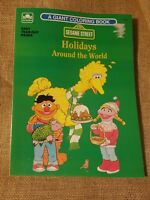Vintage Sesame Street Golden - A Giant Coloring Book - Holidays Around the World