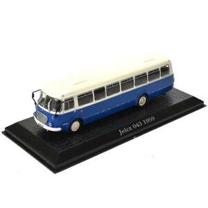 Jelcz 043 1959 bus Atlas Édition 1/72 bleu + fiche explicative neuf scellé