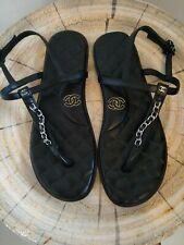 Chanel Thong Sandals Size 40.