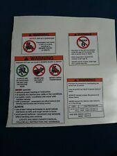 Suzuki LT50 Stickers Warning Advice Health Safety ATV Quad Sticker 2nds read add