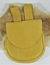 Gold Buffalo Leather Hunting Shooter's Belt Bag,  Pouch 6.5'x7.5