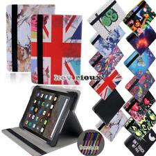 Folio Leather Silicone Rotating Stand Cover Case For Amazon Kindle Fire 7 / HD 8
