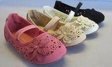 Girls Flats w/Flower (smart60a) TODDLER  Flower Girl Pageant Dress Shoes