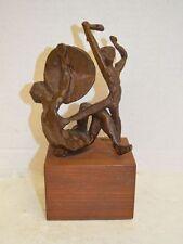 Milton Hebald David and Goliath Impressionist Bronze Sculpture