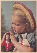#BAMBINA E BAMBOLE- 1935 FOTO CARL WERNER- ediz. Tedesca