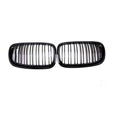 BMW X5 E70 2007-2013 X6 E71 2008-2014 GLOSS BLACK TWIN BAR KIDNEY GRILL GRILLS