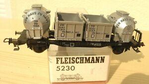 Fleischmann 5230 Vagón Silo De Casa a Efkr , Epoche 3DB Muy Buen en Emb.orig.