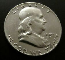 USA 1/2 Half Dollar 1957 Silber Franklin Liberty silver coin  Art. 001 - 002