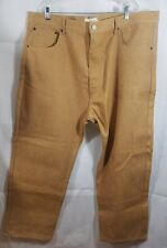 Beyond the Limit Mens Jeans Gold Denim Straight Leg Classic Big Tall Size 46x32