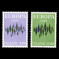Iceland 1972 - Europa Stamps - Sc 439/40 MNH