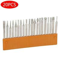 20Pc Diamond Grinding Carving Cutting Burr Bit Set For Dremel Rotary stone glass