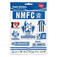 North Melbourne Kangaroos NRL LOGO Car Sticker Sheet Birthday School Books Gift