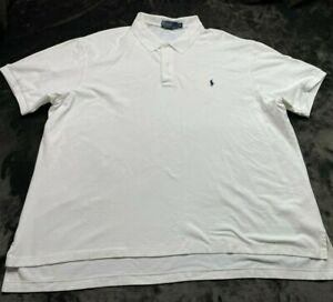 Polo Ralph Laruen Short Sleeve Men's Polo Solid White Size 4XB Big & Tall