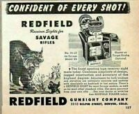 1948 Print Ad Redfield Receiver Sights for Savage Rifles Wild Cat Denver,CO