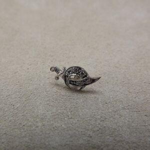 Vintage Platinum Masonic shrine Shriners Genuine Diamond Tie Lapel Pin Solid