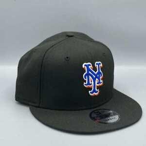 New York Mets 9FIFTY Authentic New Era Black Snapback Hat