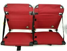GCI Outdoor Foldable Stadium Chair Set of 2 Bleacher Seat Back Support Portable