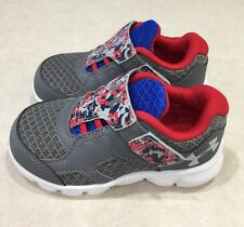 """UNDER ARMOUR """"Thrill RN AC"""" Toddler Graphite/Blue/Red Sneakers~~Size 5K"""