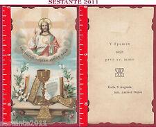 1998 SANTINO HOLY CARD GESù REDENTORE REDEMPTOR NOSTER ASPICE DEUS EUCARESTIA