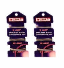 2 X CONSUMER FUSE WIRE CARD 5A 5AMP 15A 15AMP 30A 30AMP DOMESTIC CARDED FUSEWIRE