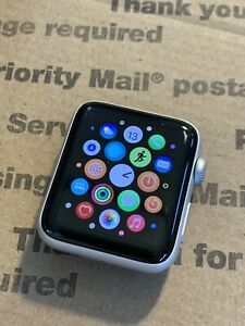 Apple Watch Series 3 42mm Silver Aluminum Case GPS + Cellular *Tested, Works*