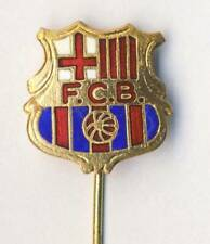 old FC BARCELONA pin BADGE Football Soccer  BARCA SPAIN Espana FCB