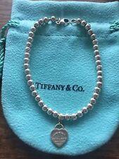 "Authentic Tiffany & Co 4mm Beads Bracelet 7"" (Medium)"