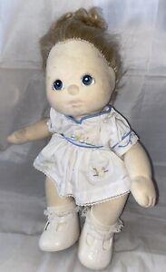 Mattel My Child Doll Blue Purple Eyes Blonde Hair Floral Dress