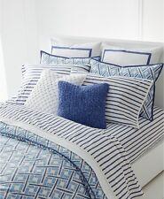Ralph Lauren Home Jensen KING 3-PC Comforter & Shams Set Blue /White Cotton $385