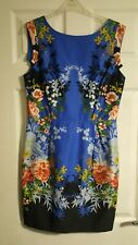 Pretty Blue Floral Dress From Oasis Size 12