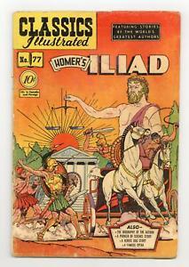 Classics Illustrated 077 The Iliad #1 GD 2.0 1950 Low Grade