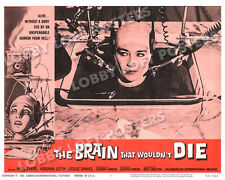 THE BRAIN THAT WOULDN'T DIE LOBBY SCENE CARD POSTER # 3 1962