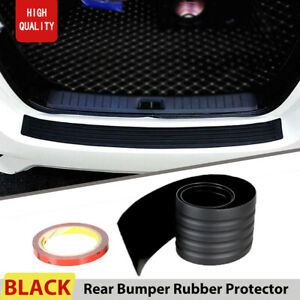 Car Tail Trunk Sill Plate Bumper Guard Protector Rubber Pad Cover Protect Trim