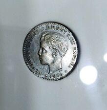 1896 Puerto Rico 10 Centavos AU condition