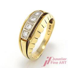 Ring in 14K/585 Gelb-&Weißgold mit 4 Brillante ca. 0,27 ct TW-VSI- 4,3 g - Gr.54