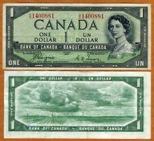 Canada, $1, 1954, P-66a, QEII, VF > Devil's Face