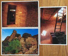 Ancient Dwellings New Mexico / 3 Postcards / Kiva, Aztec Ruins, Pueblo Bonito