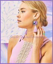 Lilly Pulitzer NWT Bay Dreaming Earrings Lilac $58 FREE LILLY POUCH!